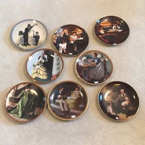 Norman Rockwell Knowles Plates